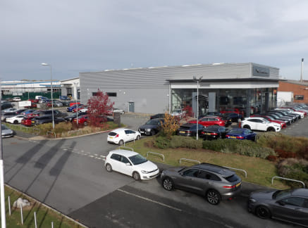 Modern car showroom.  Situated in an established motor trade location close to Alfa Romeo, Citroen, Jeep and Fiat.  Available by way of assignment.   Rent £90,000 per annum.