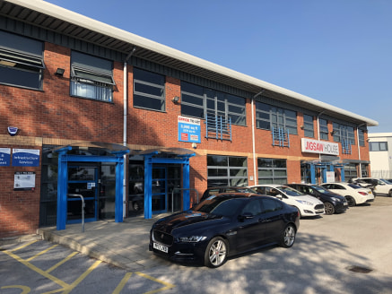 Modern ground floor office close to Cheshire Oaks and adjacent to Junction 10 M53. Next door to Lexus / Skoda dealership. Immediate access to motorway.  The ground floor of Unit 1 is available.  This extends to 2,251 sq ft and has 8 allocated car spa...