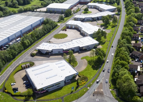 Steel portal frame warehouse construction. Eaves height of up to 5.45 metres. Warehouse lighting. Access via up and over loading door. External service yard. Two storey glazed office accommodation. Newly fitted high specification intruder alarms. WC...