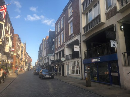 Retail unit to let comprising 1,548 sq ft in a prominent position in Chester city centre.  The property is available by way of a new full repairing and insuring lease at a rental of £32,000 per annum.