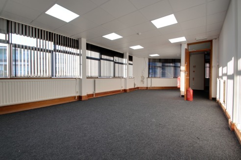 A purpose-built office block which spans three floors, accommodation has been refurbished throughout and provides 5x individual office suites of various sizes, with reception area, ladies & gents toilets and a communal kitchen.   There is no on-site...