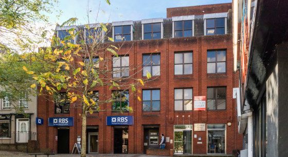St Nicholas House is a modern commercial building arranged over ground and three upper floors with designated parking. The ground floor space was previously an RBS banking branch and comprises 3,889 sq ft arranged as an open plan banking hall with of...