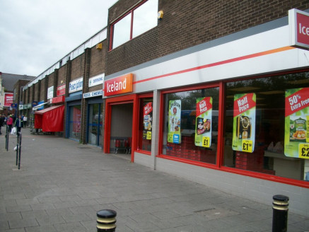<p>A terrace of retail units with a number of well known retailers located in close proximity including Iceland, Greggs and Coral.</p><p>1301 sq ft retail unit</p>  <p>Popular retail location</p>  <p> </p>