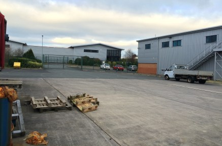 A warehouse / industrial unit with offices and large yard on a site of 0.73 acres.  15,431 sq ft  Leasehold - £59,500 per annum