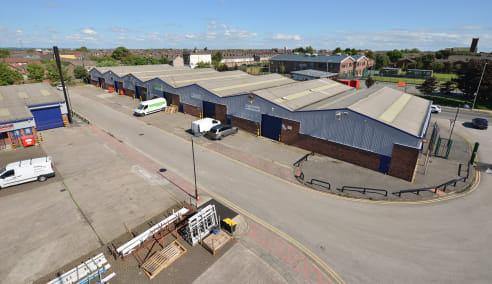 Refurbished accommodation with offices, 3 phase power and 4.5m eaves. Steel framed construction. Brickwork elevations and profile metal cladding to the upper parts. Double pitched roofs covered with metal cladding incorporating translucent panels. Ga...