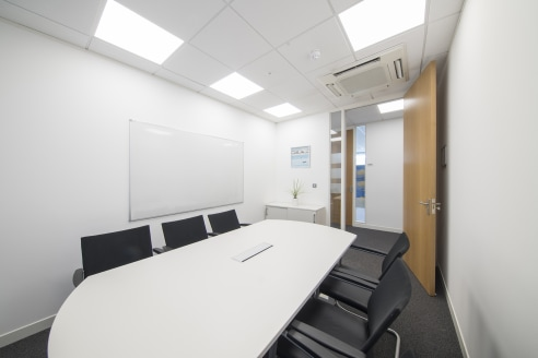 The offices are fully furnished to a high standard, including a suspended ceiling, Category 2 lighting, Category 5 network cabling with full telecommunication and Broadband packages available. The business centre offers air conditioning, a business l...