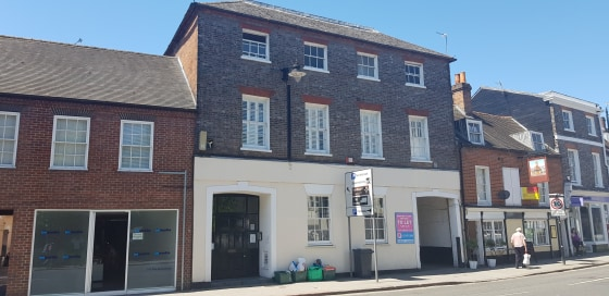 The property, set within a three storey grade 2 listed building comprises ground floor office space, the upper floors having been converted to apartments.  The space has planning consent under application no 18/01985/FUL for two apartments, 1 x 2 bed...