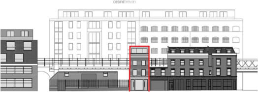 FREEHOLD SITE WITH FPP   FOR 3 FLATS + 1 OFFICE UNIT