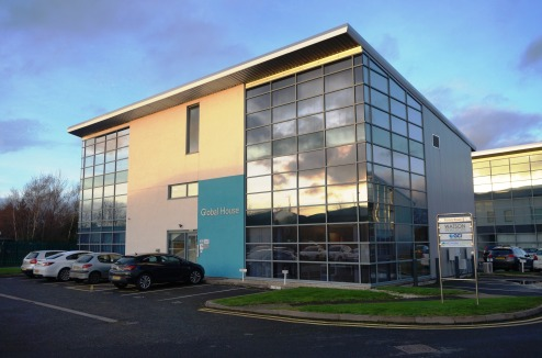 Modern Office Suite in distinctive building\nShropshire's Premier office location\nOn-site Car Park, Raised Floors, CAT II Lighting, Air-Con\nSuite D 120.82 sq m (1,300 sq...