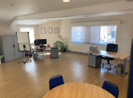 Office 10 is a Modern, first-floor office suite situated in multi-let office building.  Specification includes laminate flooring, neutrally painted walls, spotlights, double glazed windows and a radiator heating system Communal toilets and kitchen fa...