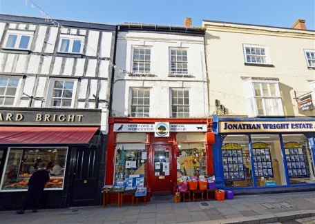 An exciting development opportunity comprising a spacious maisonette in need of refurbishment arranged over the first and second floors of this mixed-use character property in the heart of the popular market town of Leominster in Herefordshire. The p...