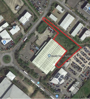 The site, which is approximately 1.1 acres, has consent for B1c and B2 uses with a maximum size of 1,400 sq m (15,070 sq ft) of buildings with ample car parking and the potential for part of the site to be used for open yard/storage.