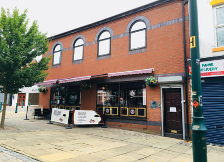 Location  Prominent location in Eccles Town Centre on the corner of the pedestrianised section of Church Street and Church Road.   Eccles Railway Station is situated directly opposite. The Metro tram interchange is within a 2 minute walk of the prope...