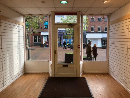 A well presented ground floor town centre retail premises with glazed frontage, located within the pedestrianised area of Newcastle under Lyme.