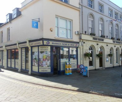 Leasehold Newsagents & Off-Licence Located In Warwick\nRef 2371\n\nLocation\nThis respected Newsagents is located in the historic town of Warwick which is one of Warwickshire's popular tourist hotspots. It's sits within a prominent and highly visible...