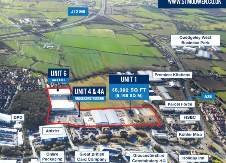 Gateway 12 is developed and managed by St Modwen the UK's leading regeneration specialist. It comprises 16 acres on Waterwells Business Park. Unit 1 provides new high quality industrial and distribution space of 66,219 sq ft under construction....