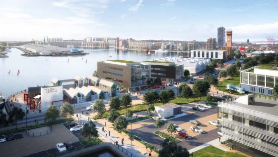 Scheduled for completion 2019  A landmark Grade A office building, No.1 Tower Rd South will be the first office building to be constructed as part of the Wirral Waters scheme.  The property will sit within the Four Bridges  neighbourhood and will pro...