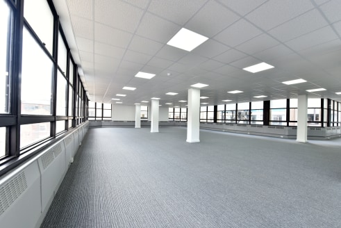 The office suite of Guildhall House provides the following features -   *DDA compliant  *Passenger lift  *Perimeter trunking  *Suspended ceiling incorporating Cat II lighting  *Ladies, gents and disabled WC facilities  *Kitchen  *Basement parking ava...