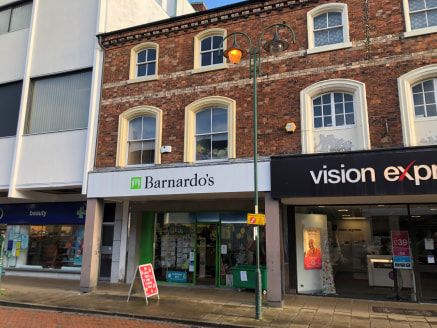 Prominent retail unit to let in Crewe.  Ground Floor Sales - 1,180 SQ FT   First Floor Ancillary - 466 SQ FT   Second Floor Storage - 236 SQ FT   Total - 1,882 SQ FT   £20,000 P/A