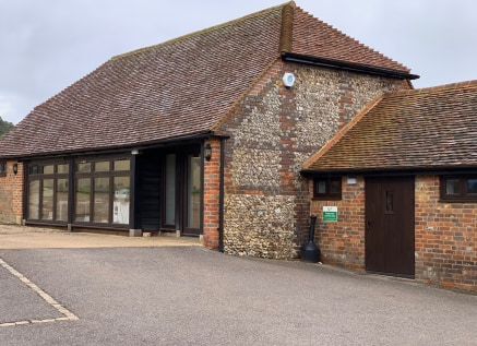 The barn has been converted to a high standard with vaulted ceilings and exposed beams. Arranged as reception, general office and separate Board/meeting room, LED lighting has been installed throughout as well as wall mounted air conditioning units a...