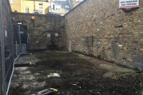 Comprises an open plot of land which has previously been used for parking and is fenced off. There is already drainage to the site and potential to park in the mews opposite the subject site.  There is potential for redevelopment and there is a lapse...