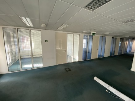 The subject property comprises a substantial detached office building, arranged across ground, first and second floors.  Upon the internal sides, the accommodation at present, provides for a mix of open plan and cellular office space.  The property s...