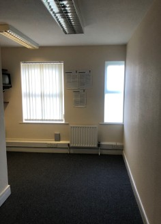 A purpose built terrace office block which provides  self contained accommodation over ground and first floors.  The ground floor consists of 3 private offices with a disabled WC, small kitchen and storage room.   The first floor provides open plan o...