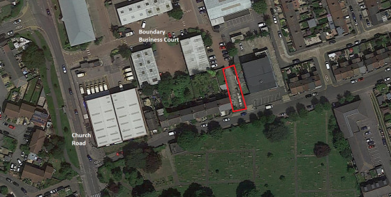 Secure hard standing open storage yard with a gated entrance off Boundary Business Court.   The total site area is approximately 217.66 sq.m