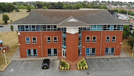 A self-contained prestigious office suite is available located on the second floor.