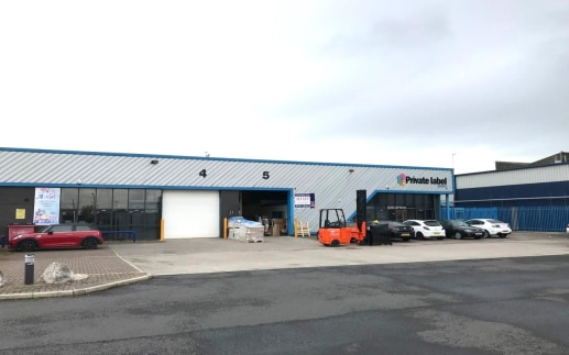 The two properties are within a terrace of 5 industrial units of steel portal frame construction which benefit from the following features:  Solid concrete floor  Minimum eaves height of 5.8m  Aluminium framed double glazed window units  Roller metal...
