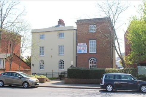 1,381 sq ft\n\nHIGH QUALITY TOWN CENTRE OFFICES\n\n* Gas fired central heating\n\n* Double glazed windows\n\n* Surface mounted LED lighting\n\n* 6 car parking spaces\n\nGeorgian House is a detached four storey office building with private parking to....