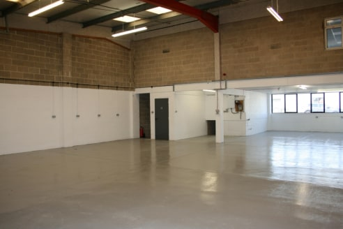 Refurbished industrial unit with excellent car parking.