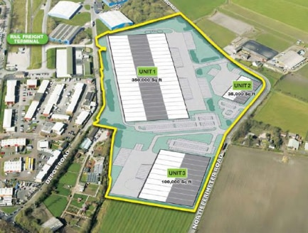 Up to 18m clear internal height. Self-contained secure site. Minimum 50kNm2 warehouse floor loading. 15% roof lights. Grade A office accommodation constructed to occupier requirements. Landscaped surroundings.