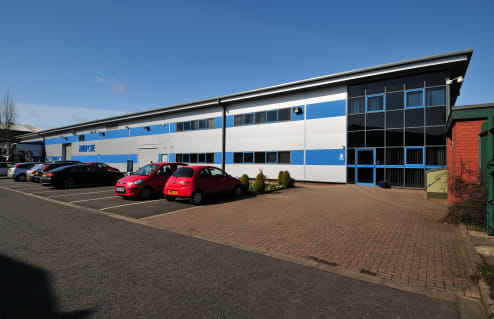 2 electrically operated sectional up and over loading doors. Two storey offices. Production area heating and lighting.