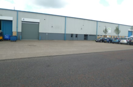 A modern portal steel framed property offering  clear span and a generous eaves height of  6.1m (20ft). The property has an office to the  front with separate male and female toilet  facilities. The warehouse is served by a shutter door  approximatel...