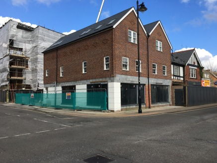 The premises are over two floors and are part of a larger residential development. The unit will have the ground floor screed and a shop front fitted.