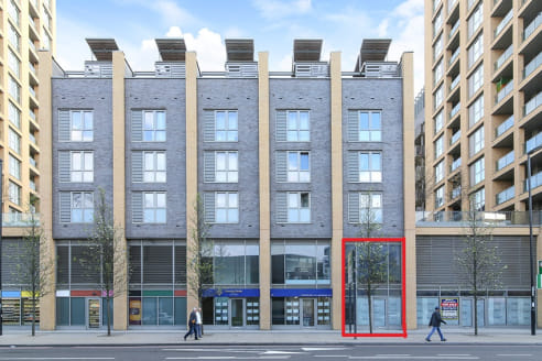 The unit benefits from double height space on part of the unit and 5m frontage facing Loampit Vale. The property currently measures 768 sq ft across the ground and first floor levels.   The unit is available in shell condition with a staircase alread...