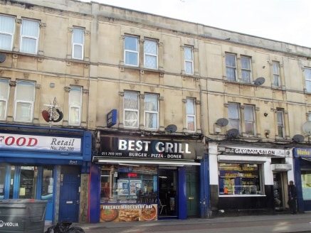 ***FOUR-STOREY MIXED USE INVESTMENT***  Opportunity to purchase a substantial terraced investment in the heart of Stapleton Road. The property consist of a ground floor and basement takeaway with two self contained flats to the upper floors, currentl...
