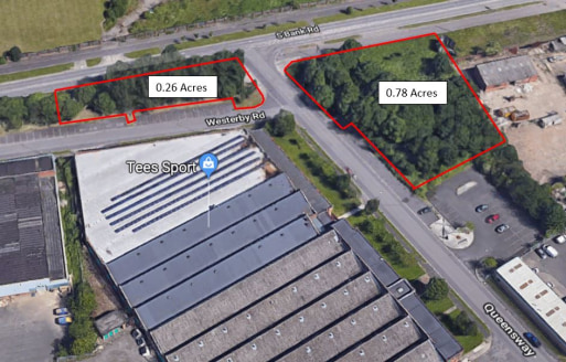 Land For Sale, Queensway, South Bank Road, Middlesbrough TS3 8TD