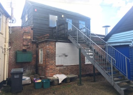 The ground floor premises form part of the old bakery. The space is basic and includes no WC, electrics fed from elsewhere and the structure being of basic brick construction.  The first floor is a timber frame extension with pitched cement roof, tim...