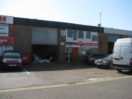 The unit is steel portal frame construction with some brick and cladding comprises of approximately 3,183 sq ft and has a small mezzanine area of 561 sq ft. Location The premises are situated on the established Hawthorn Road Industrial Estate which l...