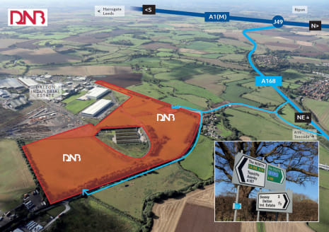 Plots of land available. Flexible sizes and specifications. Established Industrial Estate. Excellent access to the national motorway network.