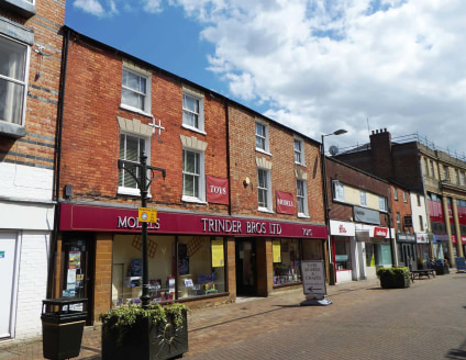 2a Broad Street comprises the ground floor of a three storey building comprising brick elevations. The retailing accommodation benefits from a large fronted glazed shop front....