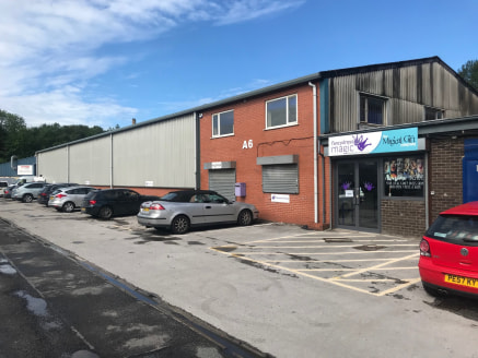 The premises comprise of an industrial warehouse unit, of steel portal frame construction, internally the property is split into two areas, warehouse and office.  The warehouse is accessed via ground floor offices and a roller shutter door and is app...