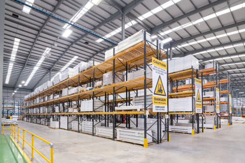 Euramax House is a modern detached industrial building built to a high specification approximately 7 years ago. The building is of a steel frame construction providing open warehouse space with the following specification.   - 9m eaves height  - soli...