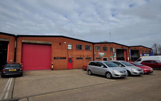 * One of 14 Trade / Industrial / Warehouse units.   * Rear of unit fronting busy Gatwick Road.  * Ground floor warehouse, first floor offices and male and female WCs.
