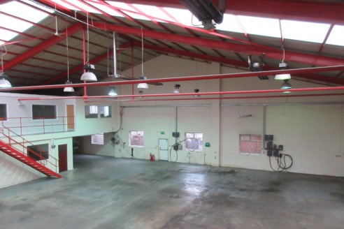 Modern industrial/warehouse building with good quality offices and rear yard