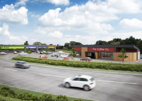 The development will comprise three A5/retail units, a convenience store and a drive-thru restaurant with communal service yard, associated landscaping and 50 car parking spaces. Hawke Ridge Business Park is a £50million 35 acre mixed use devel...