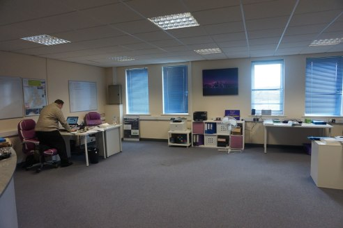 Ground Floor Office Accommodation With Car Parking.  875 sq ft - £11,000 per annum.