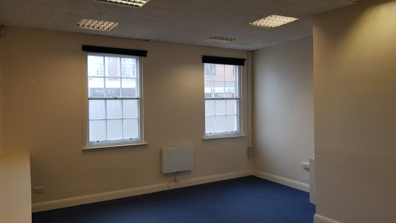 The property comprises the ground floor office space within a period three storey building, the upper floors being converted to apartments.  Internally the space has been split to provide four separate office areas with kitchenette and disabled WC fa...